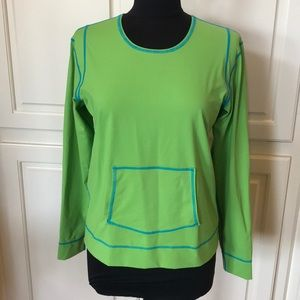 2 Athleta Pullovers - Lime Green & White - Ex Cond